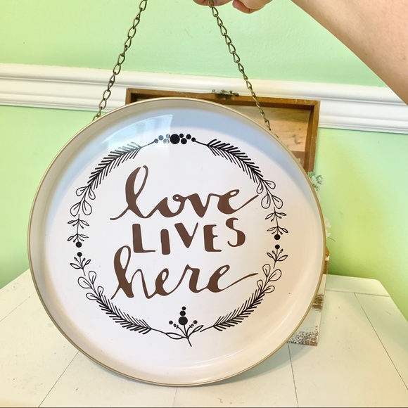 Hobby Lobby Other - 𝙵𝚊𝚛𝚖𝚑𝚘𝚞𝚜𝚎 Metal Hanging Plate Rustic